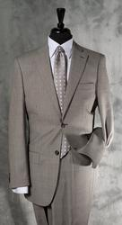 Superb Gray Color Glen Plait Suit, Made By Galante