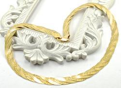 Italian Made 14K Braided Necklace