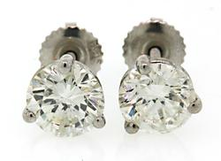 2.18 CTW Diamond Stud Earrings
