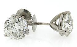 3.84 CTW Diamond Stud Earrings