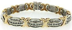 Statement Piece, 6.0 CTW Diamond XO Style Bracelet