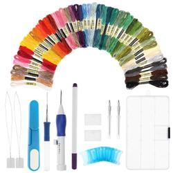 Magic Embroidery Pen Craft Tool Set w/ 50 Color Threads
