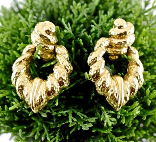 Heavy 14K Door-Knocker Style Earrings