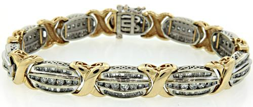 Statement Piece, 6.0 CTW Diamond XO Style Bracelet