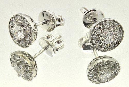 NEIL LANE 1.5CTTW  DIAMOND STUDS.
