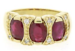 3.16 CTW Ruby & Diamond Band in 18K