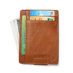 Men's Leather Front Pocket Wallet with RFID Blocker
