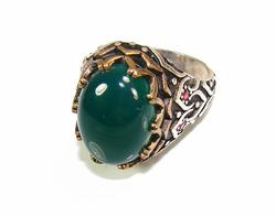 Exquisite Sophisticated Large GEM 925 S Gents Ring