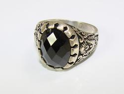 Attractive & Sophisticated Large GEM 925 S Gents Ring