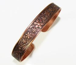 Appealing Ethnic Handmade Engraved Copper Bracelet