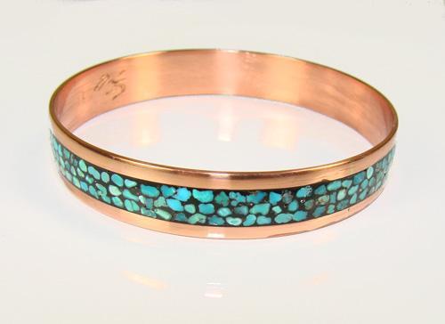 Authentic Ethnic Handmade Turquoise & Copper Bracelet