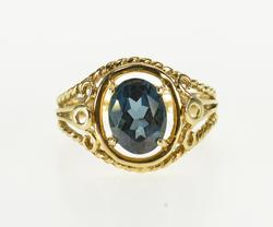 London Blue Topaz & Gold Ring