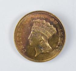 1861 $3.00 Princess Head Gold, RARE