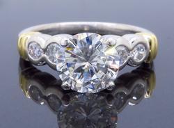 18K Gold 1.89CTW Diamond Engagement Ring