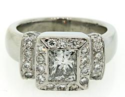 Diamond Halo Ring at 1.16 CTW in Platinum