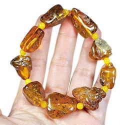 Immense 20.35 gram butterscotch Amber nugget bracelet