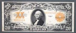 Clean $20 Gold Certificate 1922 Speelman White