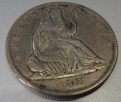 Rare 1861-O CSA Obverse Seated Liberty Half Dollar