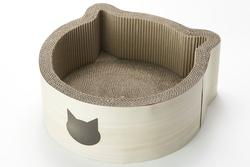 Sturdy Cat-headed Scratcher Bed w/ Soft Borders