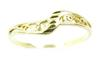 Dainty 10K Yellow Gold Filigree Ring