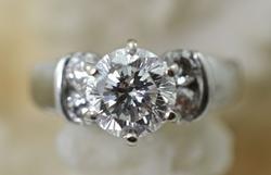 Impressive 1.5 Carat 14K Engagement Ring