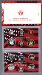2004 Silver US Proof Set. Box/CoA