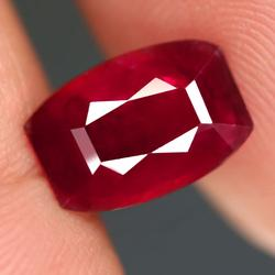Blood red modified cushion cut 4.5ct Ruby