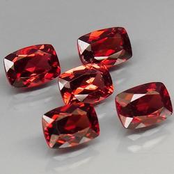 Premium 5.57ct natural wine red Garnet set