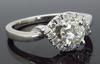 14K White Gold .66CTW Twisted Halo Diamond Ring