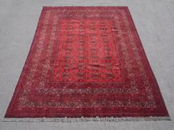 Semi Antique Wool on Wool Afghan Turkman 6.9x9.6
