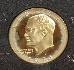 1974 PROOF Silver (40%) Eisenhower Dollar (Brown Ike)