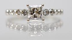 Beautiful 1.01 Ct. Princess Cut Diamond Ring