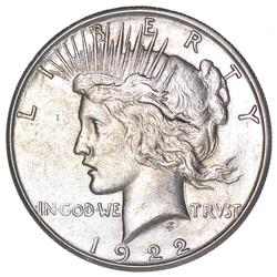1922-S Peace Silver Dollar - Circulated