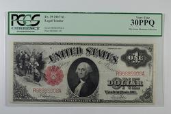 VF 30PPQ 1917 $1 Legal Tender Note - PCGS Graded