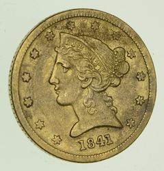 1841-D $5.00 Liberty Head Gold Half Eagle - Circulated