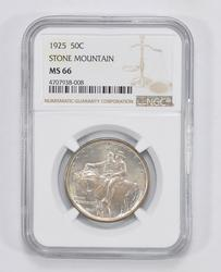 MS66 1925 Stone Mountain Commemorative Half Dollar - Graded by NGC