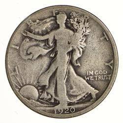1920-D Walking Liberty Silver Half Dollar - Circulated