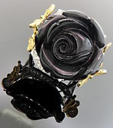Carlo Viani Black Rose Ring