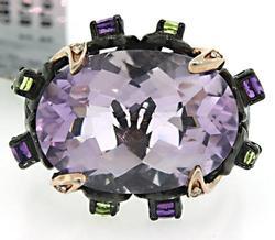 Le Vian Amethyst & Multi Color Gemstone Ring