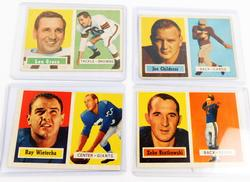 4 Topps 1957 Football Cards
