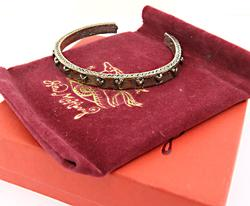 Jes MaHarry Cuff Bangle with Hearts