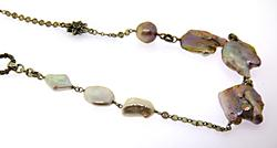 Stephen Dweck Long Mixed Pearl Necklace