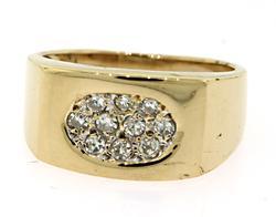 Contemporary Pave Diamond Ring