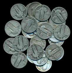 25 nice assorted Full Date Standing Liberty Quarters