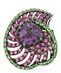 Carlo Viani Heart Amethyst Ring