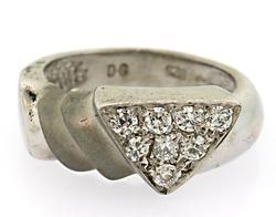 Designer Sterling Silver Triangle Ring