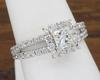 14K White Gold Split Shank Halo Diamond Ring