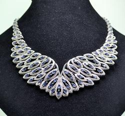 13+Carat Tanzanite & Diamond Designer Necklace