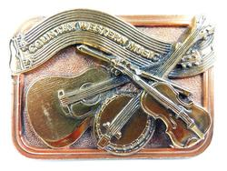 1984 Signed Country Western Brass Belt Buckle