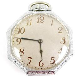 Vintage Elgin Self-Wind Pocket Watch, Runs